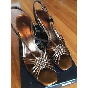 NEW IN BOX Rose gold heels